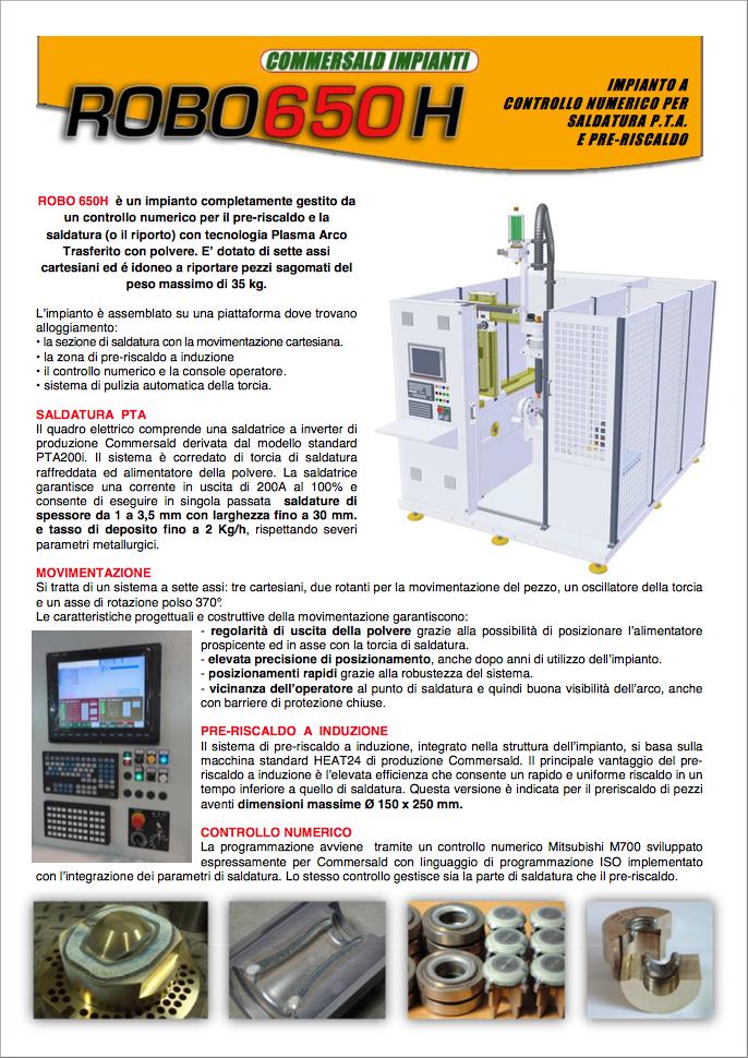 catalogo commersald impianti robo 650